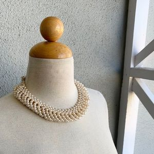 Vintage Faux Pearl Choker Necklace